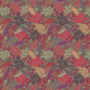 Lewis & Irene Autumn Fields - 4226 - Multicoloured Fallen Leaves on Green - A113.3 - Cotton Fabric